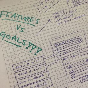 Features vs. goals