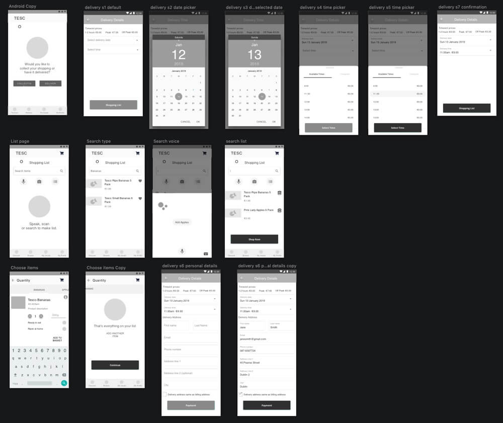 screen grab of a wireframe