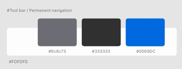 the colour pallet chosen for the project of white, light grey, dark grey, and blue