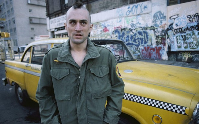 Robert De Niro's portrayal of the New York Taxi Driver.