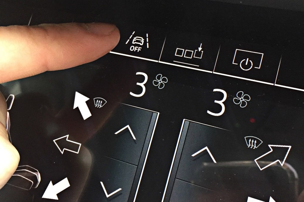 Audi lower display graphic user interface buttons