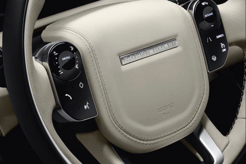 Land Rover Velar steering wheel with thumb controls