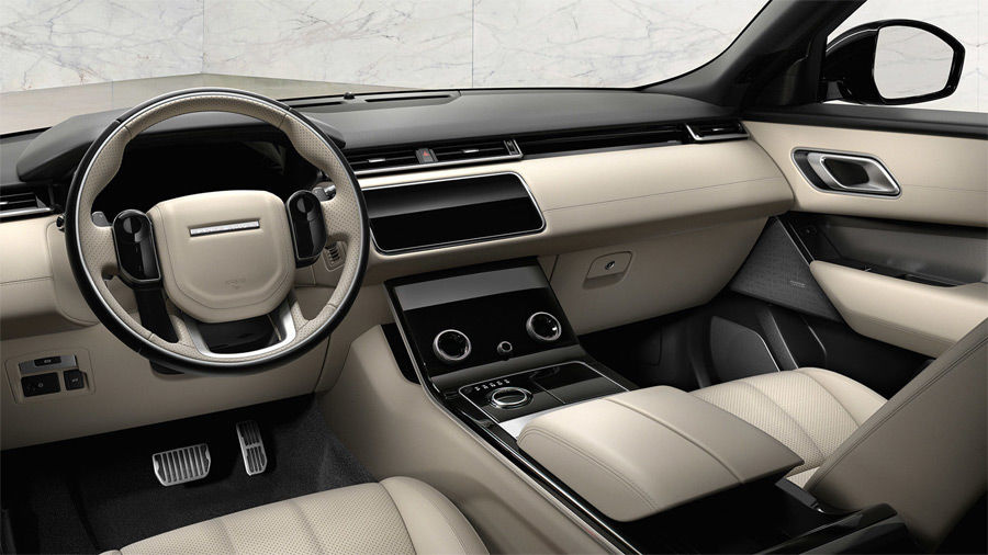 Range Rover Velar left hand drive interior with ignition off
