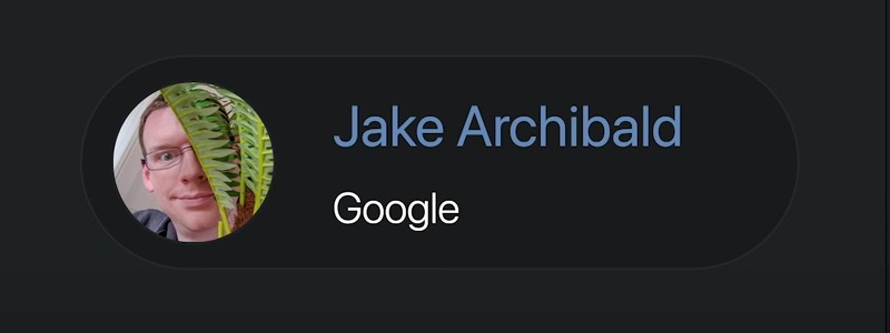 Screen grab of Jake's name and organisation in copy text and his avatar conveying Jake smiling weirdly from behind a fern
