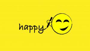 happy face writing happy