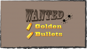 Wanted - golden bullets western poster
